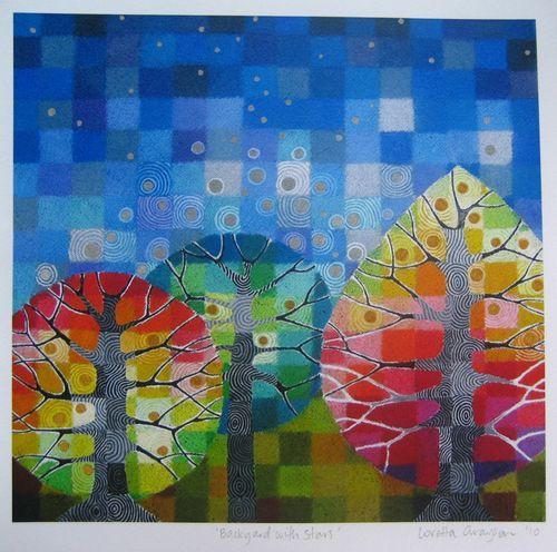 Backyard with Stars by Loretta Grayson