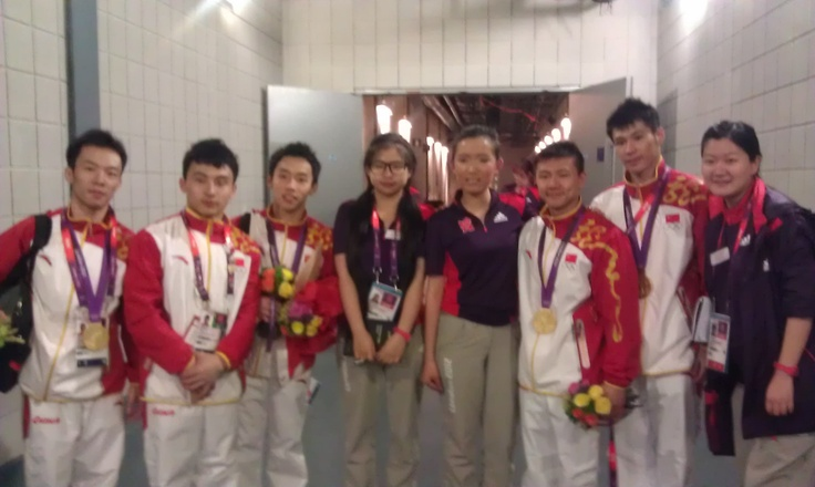 The Chinese Mens Gym team
