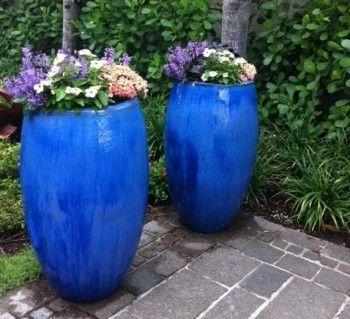 Large Blue Pots In Landscape Miami Real Estate Works 400 x 300