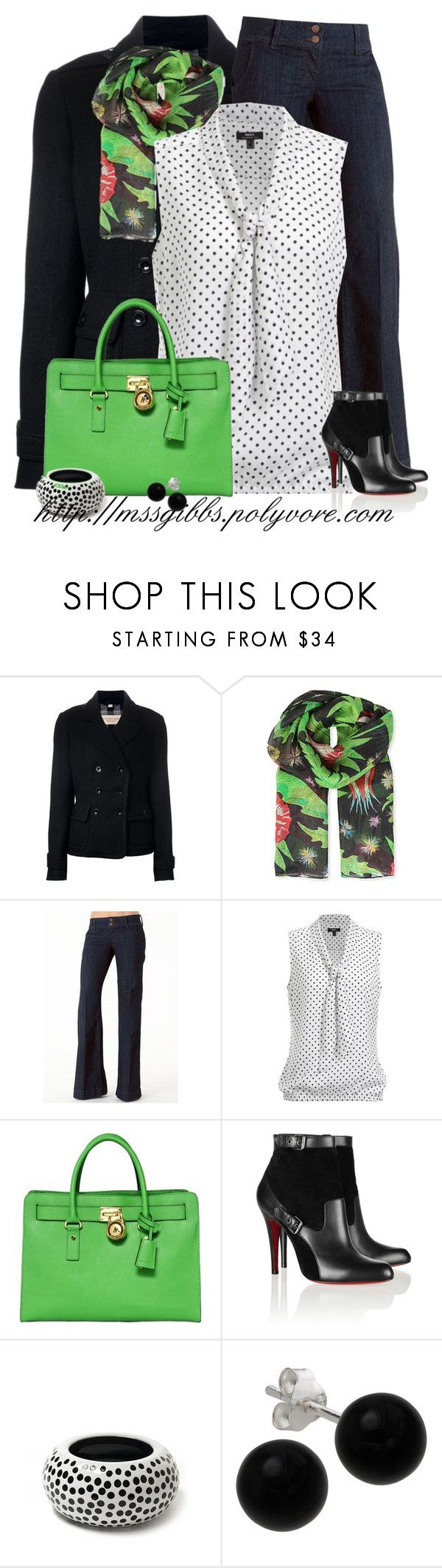 """""""Ankle Boots"""" by mssgibbs ❤ liked on Polyvore featuring Burberry, French Connection, MICHAEL Michael Kors, Christian Louboutin, Sonia Rykiel and Bridge Jewelry"""