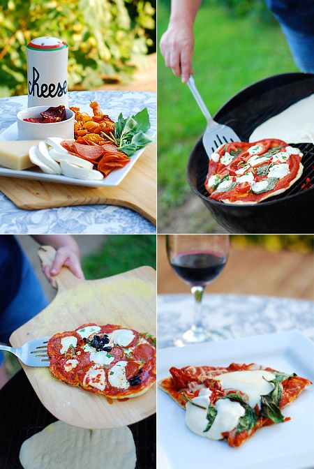 ~Grilled Pizza~    Okay, before we get started I'd like to note that the following instructions are based on grilling pizza on a charcoal grill. We use 100% natural wood charcoal. I imagine that grilling pizza on a gas grill would probably work, but I have never done it.