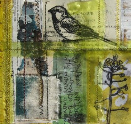 Ros Lymer, dyed fabric, embroidery, mono printing