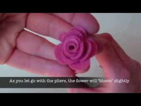 How to cut the felt: MFT Die-namic Rolled Rose #Tutorial