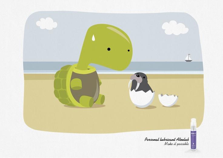 AWARD:  EMERALD / CATEGORY: BEAUTY / HYGIENE / HEALTH / CAMPAIGN: Make it Possible: Turtle, Chicken, Penguin / ADVERTISER: Passage du Désir / AGENCY: Hérézie, France