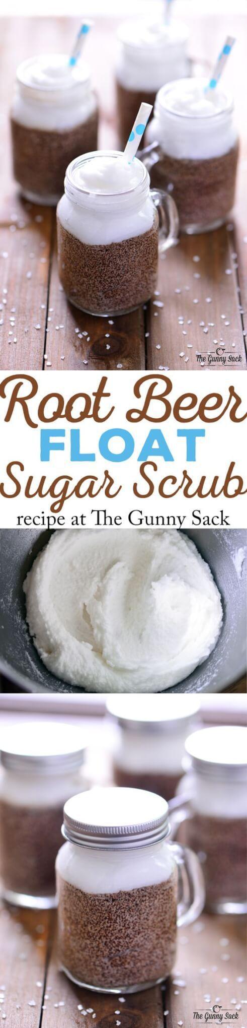 Root Beer Float Sugar Scrub