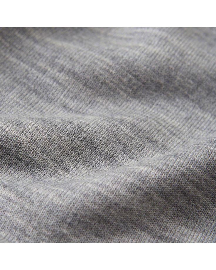 A&F Men's Merino-Blend Half-Zip Sweater in Grey - Size XXL