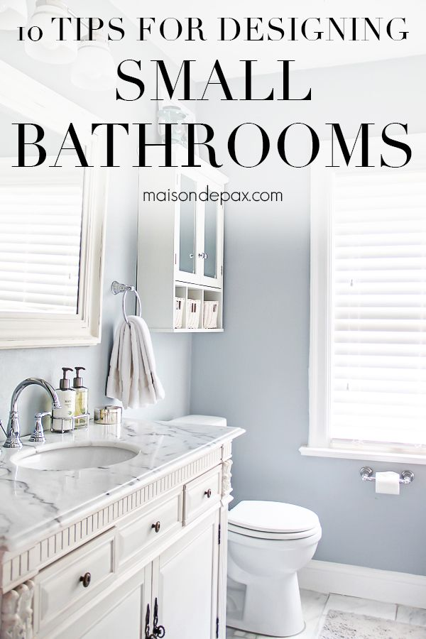 10 Tips for Designing a Small Bathroom inspire baths Pinterest