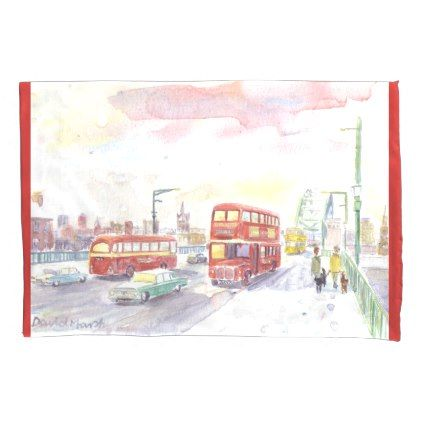 Routemaster bus pillowcase - home gifts ideas decor special unique custom individual customized individualized