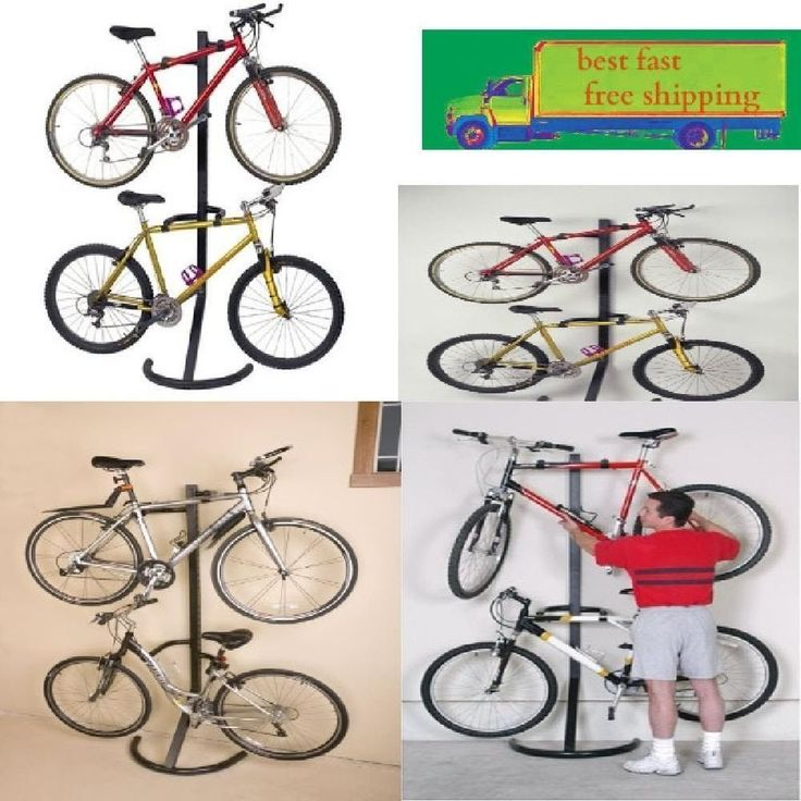 Best 25 garage bike rack ideas on pinterest bike storage garage bicycle mount hanger racor 2 bike rack gravity freestanding stand storage garage solutioingenieria Images
