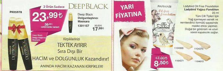 DEEP BLACK 2 ürün sadece 23.99 tl. Aninda hacim kazanan kirpikler...  http://www.farmasi.peacocksem.com/
