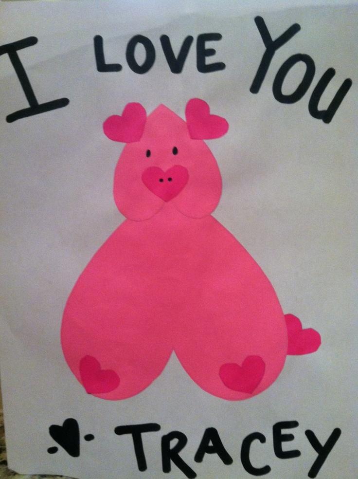 valentine heart piggy craft in preschool and pre k