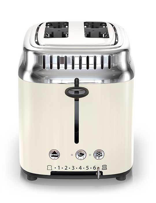 official photos a1b7e 731dc Retro Style Russell Hobbs 2-slice cream and stainless steel toaster  99