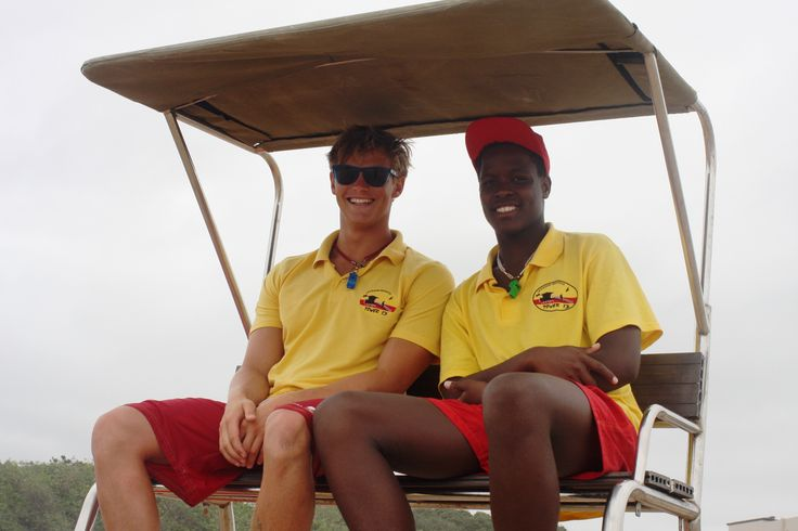 St Micheal`s on Sea Beach in Margate, KwaZulu-Natal the lifeguards