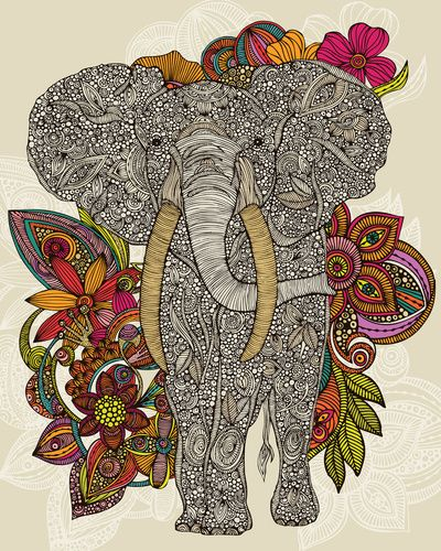 ..: Colors Pallets, Canvas Prints, Elephants Tattoo, Elephants Art, Art Prints, Elephants Prints, A Tattoo, Drawing, Flower
