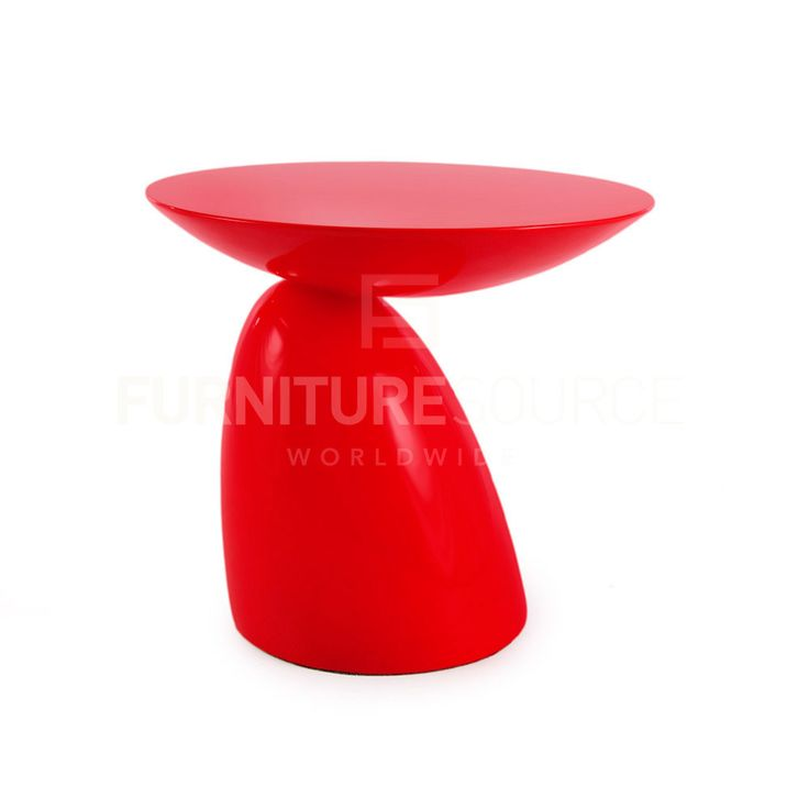 Eero Aarnio Style Parabel Side Table   Red