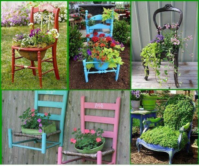 Не выбрасывайте старые стулья — это отличный материал для творчества!
