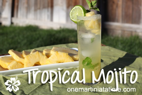 A tropical twist on the classic mojito cocktail.