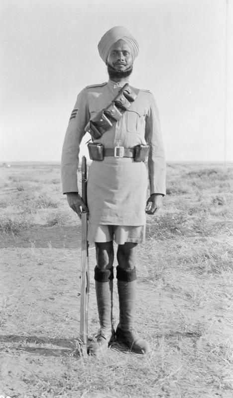 Havildar (a noncommissioned officer in the Indian army, equivalent in rank to sergeant) of the 14th Sikhs. Gallipoli 1915