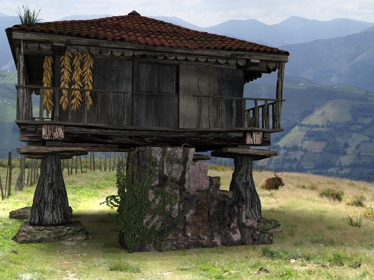 Horreo típico asturiano foro3d.com