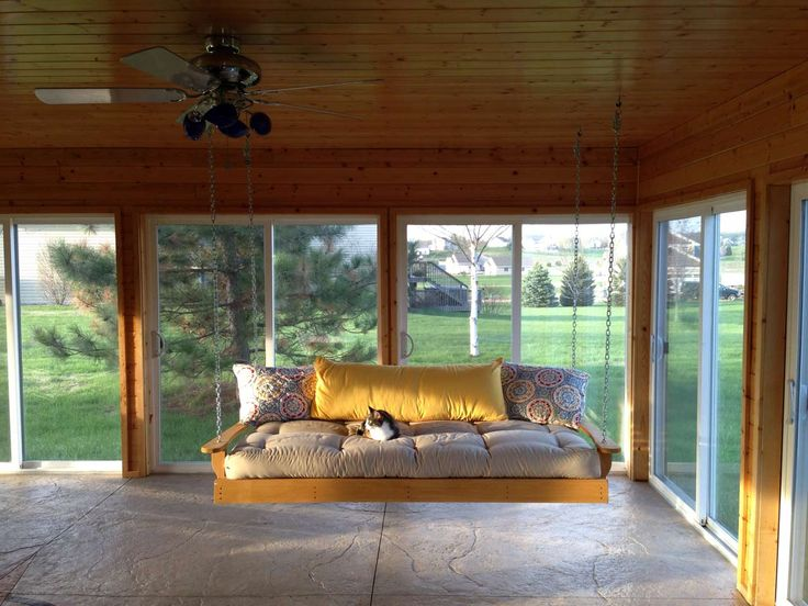 Awesome Porch Swings Design ~ http://www.lookmyhomes.com/enjoy-the-warmth-of-the-family-along-with-porch-swings/