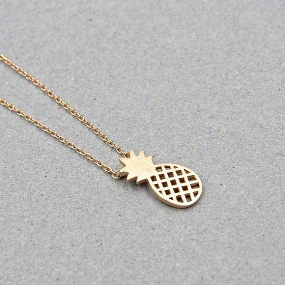 Gold Pineapple Necklace Pineapple Necklace Boho by Instyleglamour