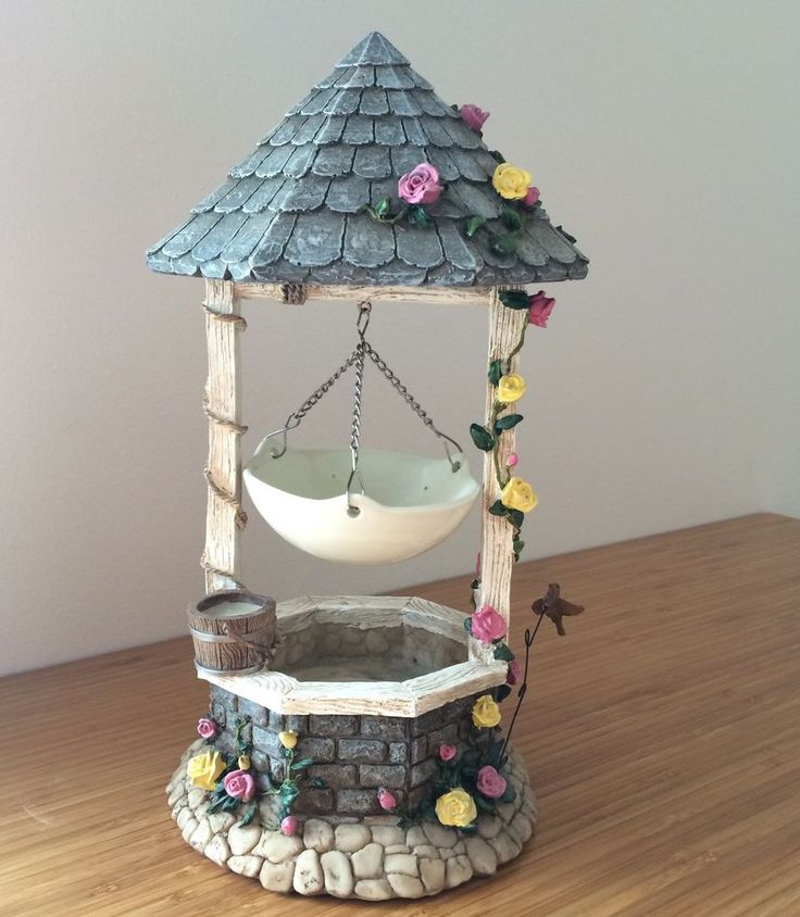 Yankee Candle Wishing Well Hanging Tart Wax Warmer Stones Water Rose Vines RARE #YankeeCandle #Country