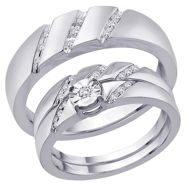 wedding bands - Wedding Ring Sets For Bride And Groom