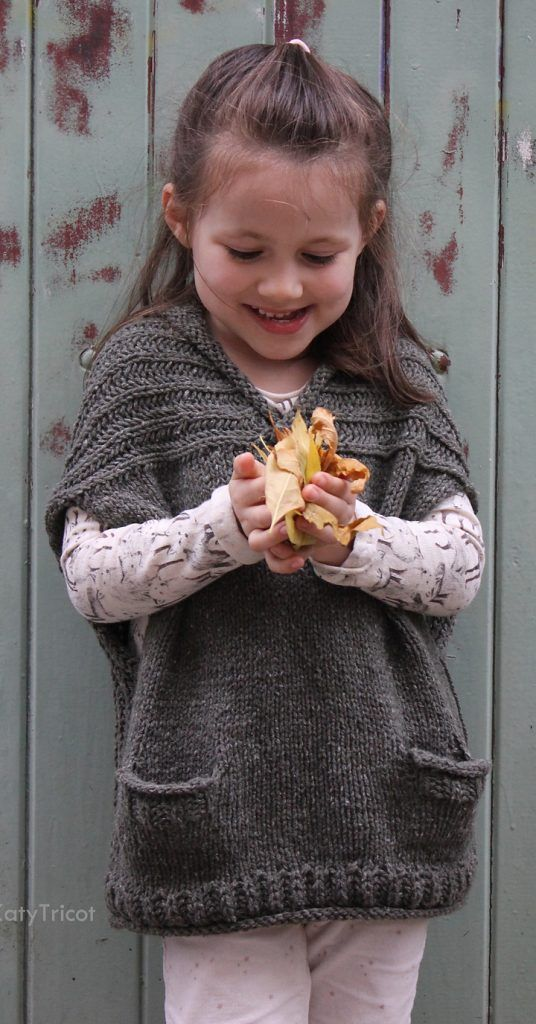 Knitting Pattern for Comfort Vest in Child and Adult Sizes