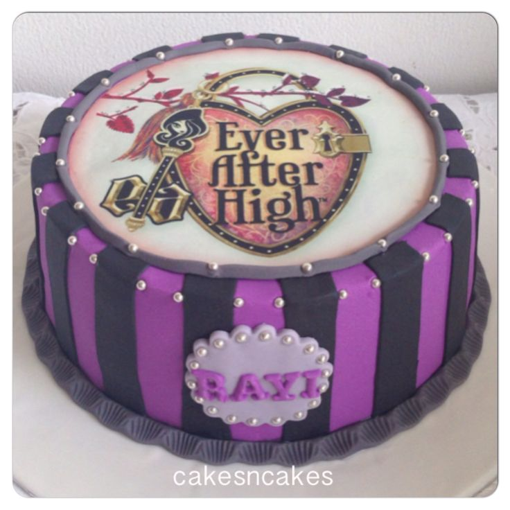 Ever after high birthday cake with edible print