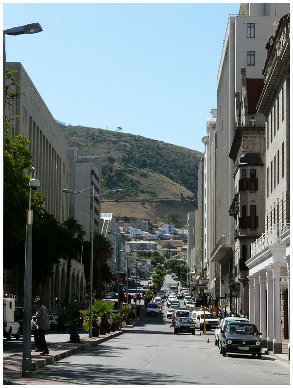 A typical street in Cape Town city