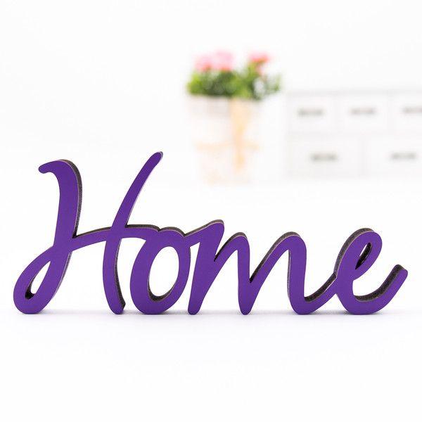 KLEINLAUT Holz Schriftzug Home 3D