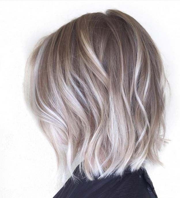 Balayage Ideas for Short Hair - Ashy and Platinum Blonde Balayage Bob - Tips, Tricks, And Ideas for Balayage Hairstyles You Can Do At Home And For Short And Very Short Hair. DIY Balayage Hair Styles That Cost Way Less. Try The Pixie Balayage Hairdo For Blonde Or Dark Brunette Hair. Use Caramel, Red, Brown, And Black Colors With Your Undercut And Balayage Haircut. Get Beautiful Looks With Purple, Grey, Honey, And Burgundy. Try An Ombre With Bangs For Your Medium Length Hair Or Your Super…