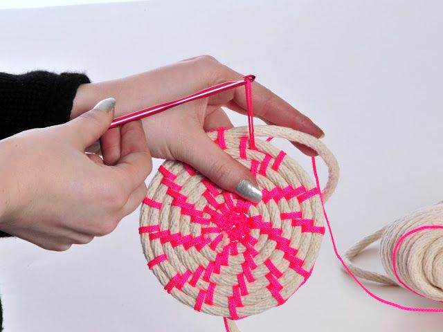The Work is Getting to Me: Making Neon Rope Baskets, video tutorial