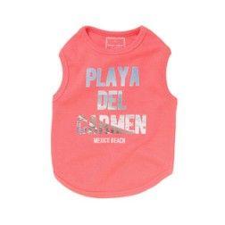 Camiseta Playa Rosa Para Perro
