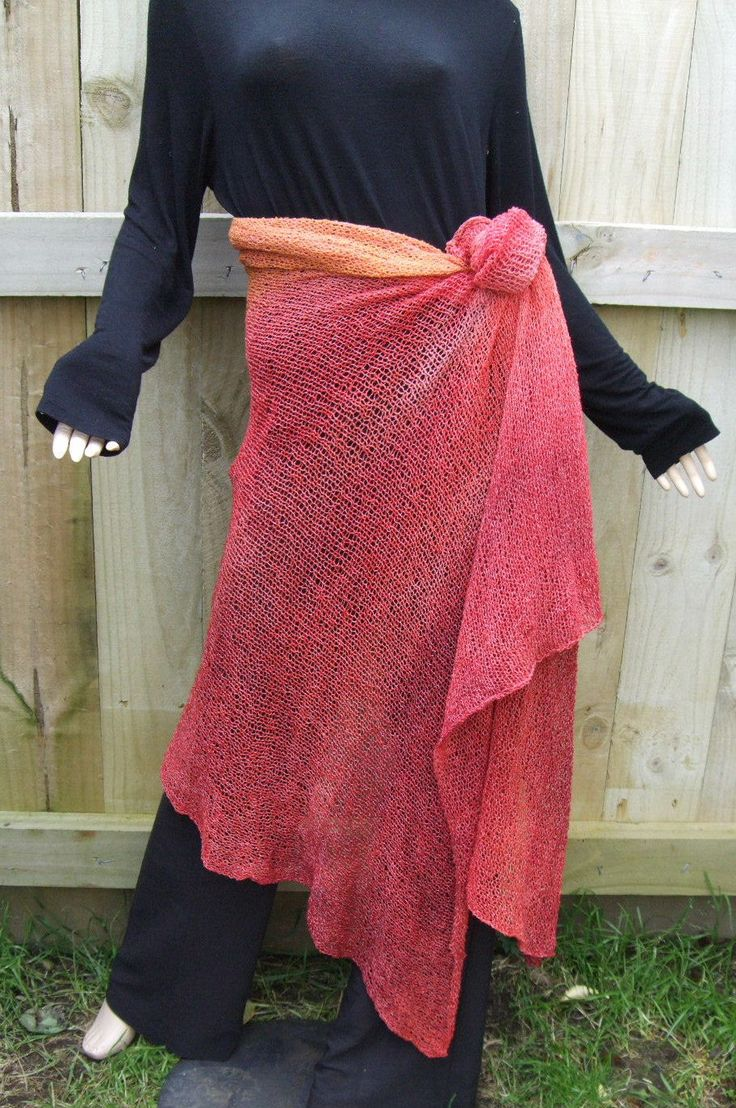 Draped and tied skirt
