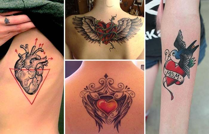 Aşk Ve Tutkunun Simgesi Kalp Dövmeleri