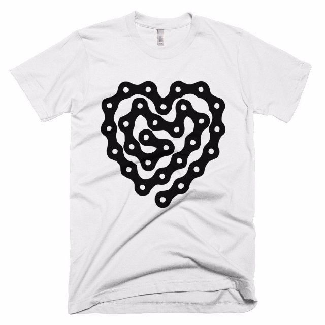 Cadence Cycling Chain I Love Cycling T Shirt White by Trxmo on Etsy