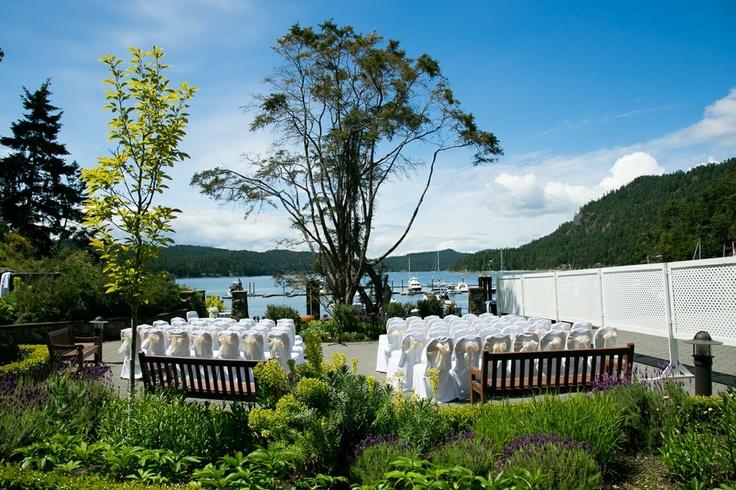The terrace ceremony location.
