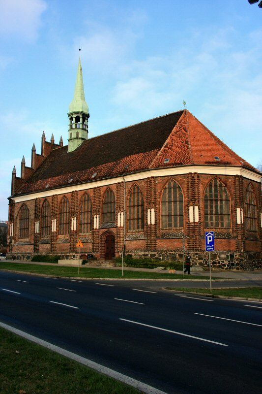 The oldest church of St Peter and St Paul (1243) in Szczecin.