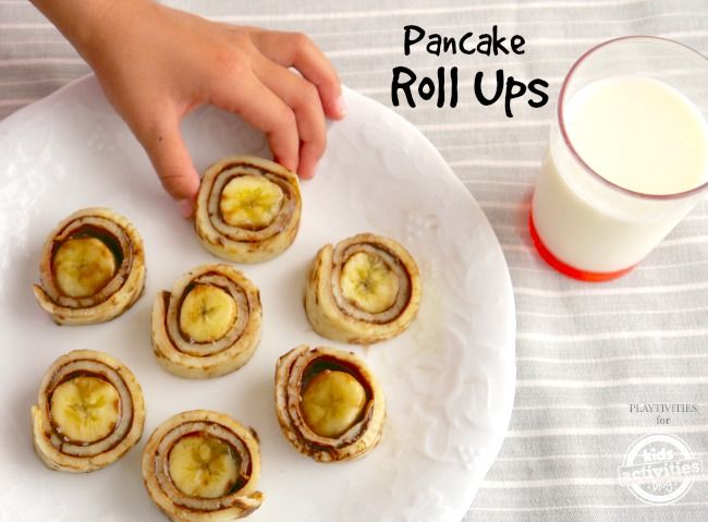 Try these pancake roll ups for kids. They are super yummy, easy to make and kids will love them.