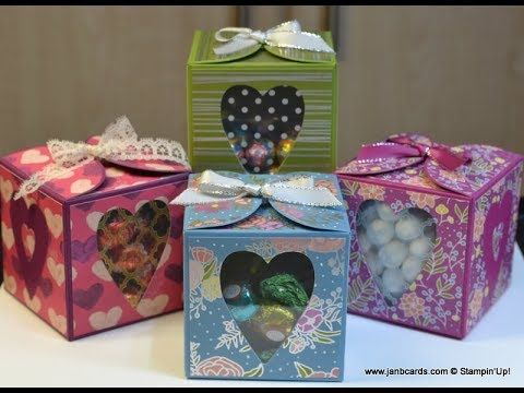 No.353 - Lots to Love Cube Box - UK Stampin' Up! - YouTube