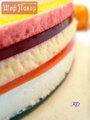 """Торт из желе """"5 желаний"""" / Десерт / Рецепты / Шеф-повар – простые и вкусные кулинарные рецепты, фото-рецепты, видео-рецепты"""