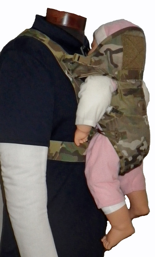 Mayflower Online Store - Tactical Baby Carrier, comes in multicam and desert digital. I want one!!!