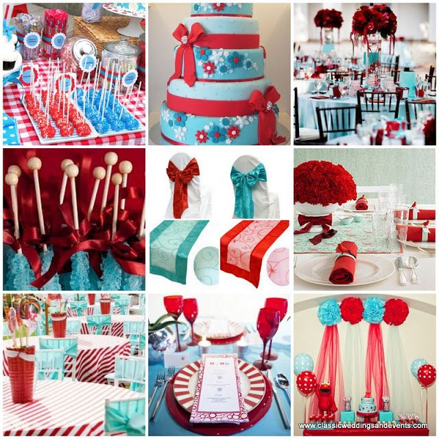 Classic Weddings and Events: Turquoise and Red Wedding Ideas