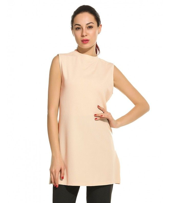 3512b8e453 Women's Crew Neck Sleeveless Vest Tunic Shirt Casual Top(Size S-L) - Beige  - CB12O8PESV2,Women's Clothing, Tops & Tees, Tanks & Camis #Tops #Tees  #summer ...
