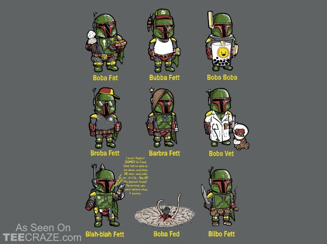 Alternative Intergalactic Bounty Hunter T-Shirt Designed by robbielee