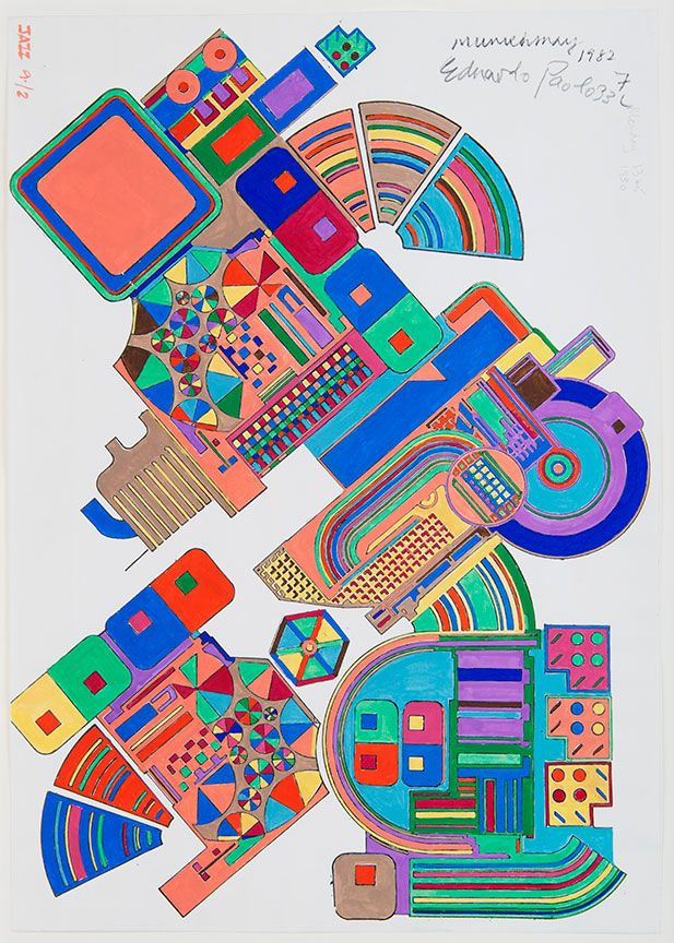 eduardo paolozzi sculpture | Eduardo Paolozzi, Design for mural at Tottenham Court Road Underground ...