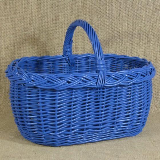 Kosz zakupowy mały - niebieski