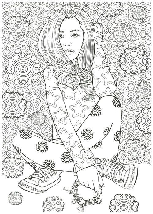 53 best Adult Coloring Pages images on Pinterest Coloring books