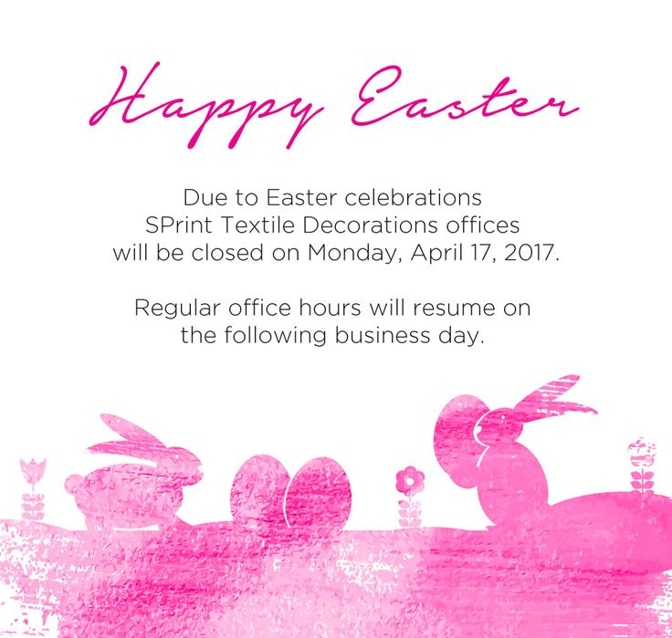 Sprint Textile Decorations wishes everyone #HappyEaster!